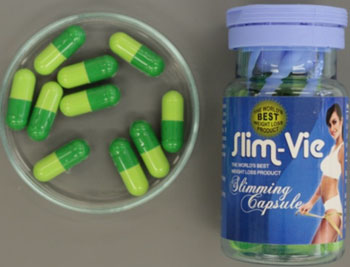 Slim-Vie Slimming Capsules and bottle