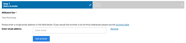 screenshot showing Email field