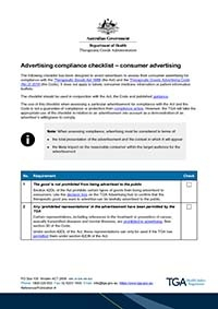 Download Advertising compliance checklist - consumer advertising