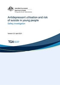 Download Antidepressant utilisation and risk of suicide in young people