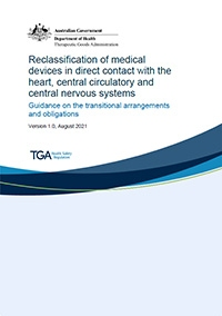 Download Reclassification of medical devices in direct contact with the heart, central circulatory and central nervous systems