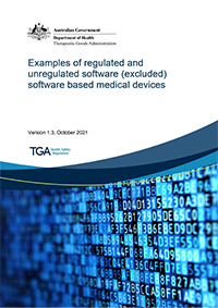 Download Examples of regulated and unregulated software (excluded) software based medical devices