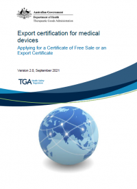 Download Export certification for medical devices