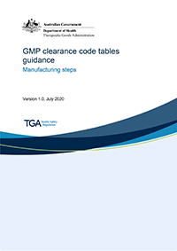 Download GMP Clearance code tables guidance