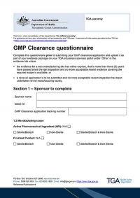 Download GMP Clearance questionnaire