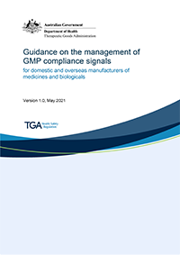 Download Guidance on the management of GMP compliance signals