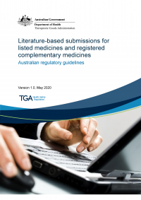 Download Literature-based submissions for listed medicines and registered complementary medicines