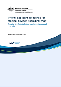 Download Priority applicant guidelines for medical devices (including IVDs)