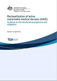 Download Reclassification of active implantable medical devices (AIMD)