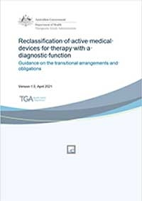 Download Reclassification of active medical devices for therapy with a diagnostic function