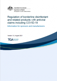 Download Regulation of borderline disinfectant and related products with antiviral claims including COVID-19