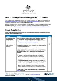 Download Restricted representation application checklist