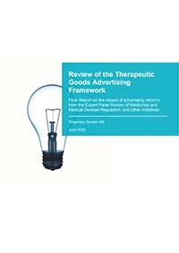 Download Review of the Therapeutic Goods Advertising Framework