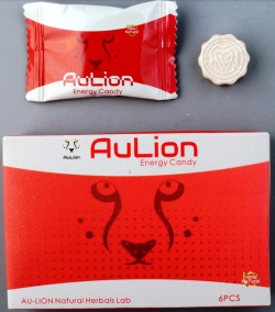 AuLion Energy Candy packaging and tablet