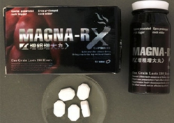 MAGNA-RX box, bottle and tablets