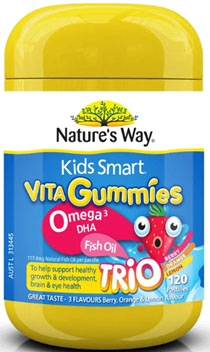 Nature's Way Kids Smart Vita Gummies Omega 3 DHA Fish Oil packaging