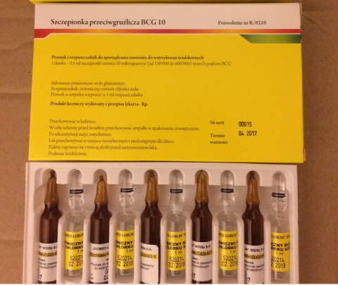 Picture of BCG 10 Anti Tuberculosis Vaccine - carton and vial