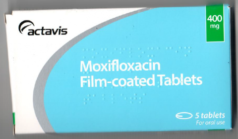 Picture of Moxifloxacin 400 mg Film-coated Tablets - carton