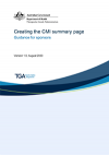 Creating the CMI summary page - Guidance for sponsors