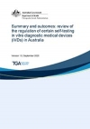 Summary and outcomes: review of the regulation of certain self-testing in vitro diagnostic medical devices (IVDs) in Australia