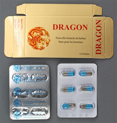 Super Dragon Capsules packaging