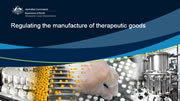 picture of the cover of Regulating the manufacture of therapeutic goods