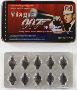 images of Viagra 007 packaging and tablets