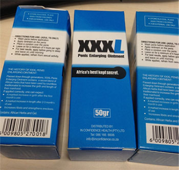 Packaging for XXXL Penis Enlargement Ointment